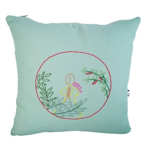 cuscino ricamato woman